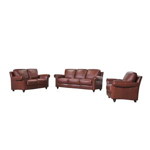 Belfort Select Grady Leather Ottoman with Turned Feet