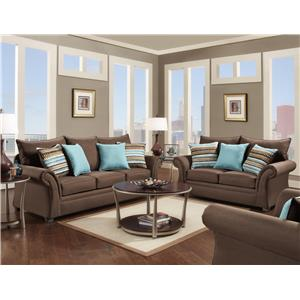 Washington Furniture 1560 Transitional Sofa with Rolled Arms