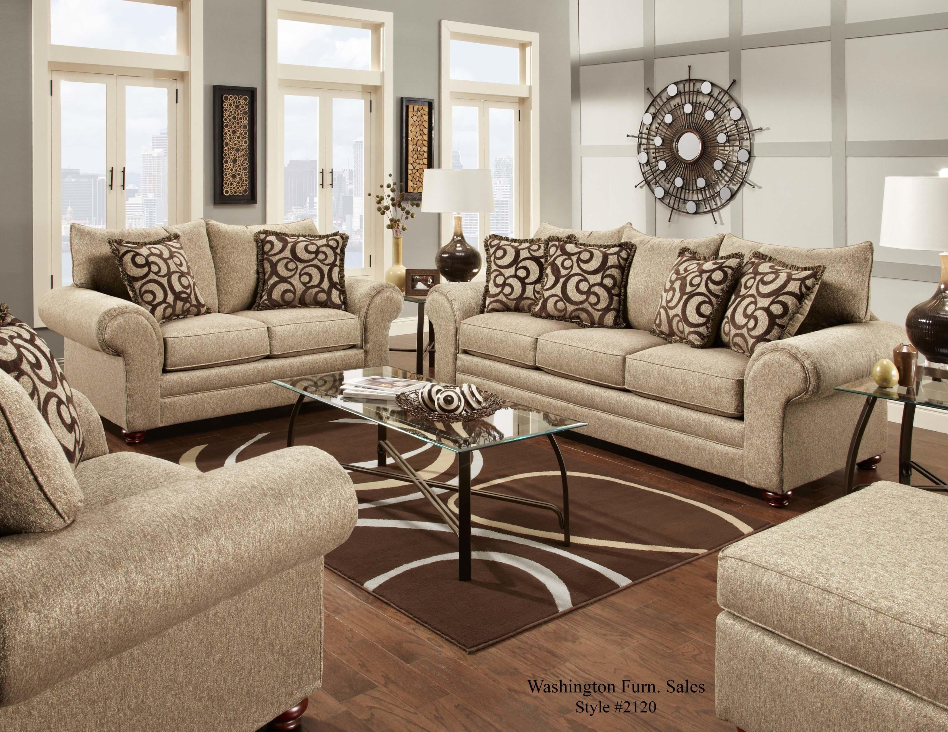 Washington Furniture 2120 Stationary Living Room Group - Item Number: 2120 Living Room Group 1