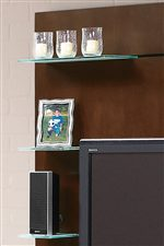 Floating Frosted Glass Shelves