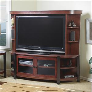 Exceptionnel Welton USA Ovation Wall Unit With Merlot And Black Finish With Black  Hardware
