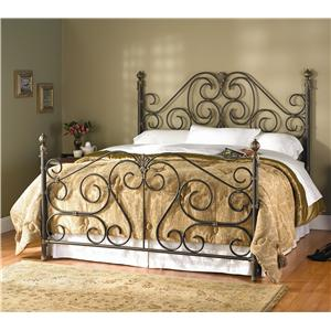 Wesley Allen Aberdeen King Aberdeen Metal Headboard and Footboard Bed