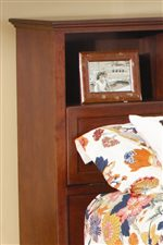 Spacious Headboard Bookcase Storage