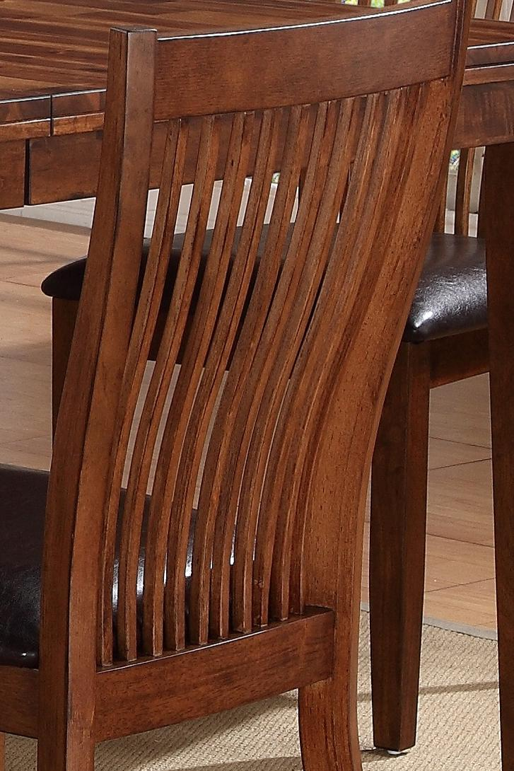 Winners Only Broadway Slat Back Side Chair With Upholstered Seat