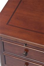 Walnut Inlays Decorate Select Desk Tops