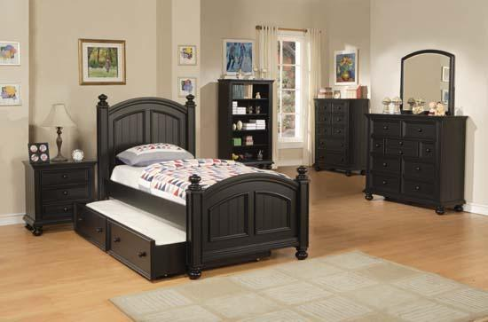 Winners Only Yarmouth Twin Bedroom Group - Item Number: Ebony T Bedroom Group 2