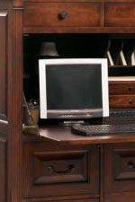 Drop Front Cabinet Door on Computer Armoire