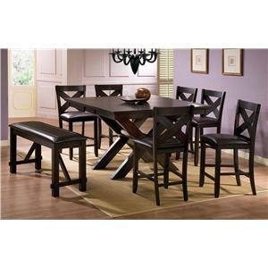 Merveilleux Winners Only Edgewater 8 Piece Counter Height Dining Set With Bench