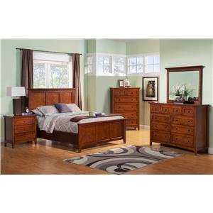 Winners Only Flagstaff Queen Panel Bed with Tapered Feet