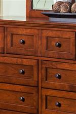 Drop Front Dresser Drawer with Molding Detail