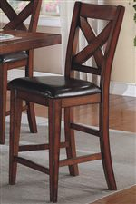 X Back Bar Stool Adds Seating Height