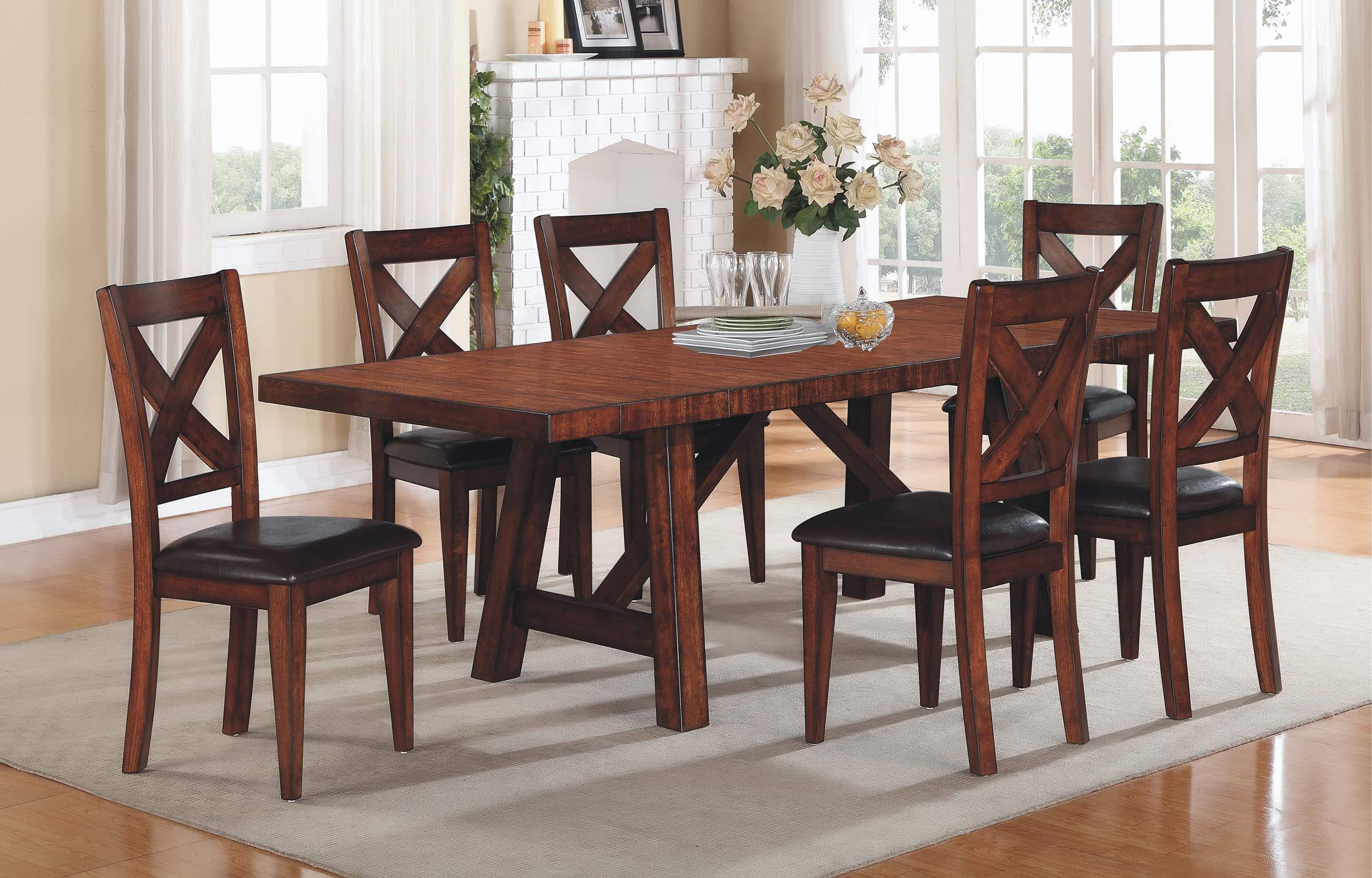 Winners ly Kingston Counter Height Trestle Table with Two Leaves