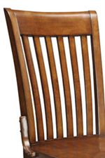 Vertically Slatted Office Chair Back with Sweeping Topside