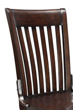 Vertically Slatted Office Chair Back with Contoured Top