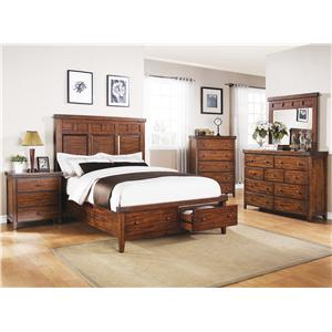 Winners Only Mango Queen Bedroom Group