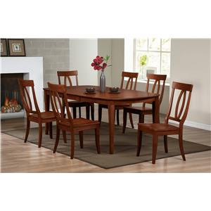 Winners Only Santa Barbara SBF Slat Back Side Chair With Tapered Legs