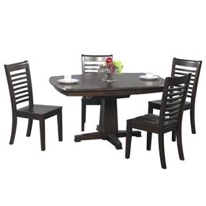 Winners Only Santa Fe 5 Piece Single Pedestal Dining Table and Chair Set