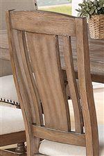 Slat Back Designed Side Chair