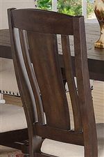 Slat Back Designed Side Chairs