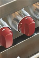 Wolf's Distinctive Red Knobs Also Come in Black to Suit Your Taste