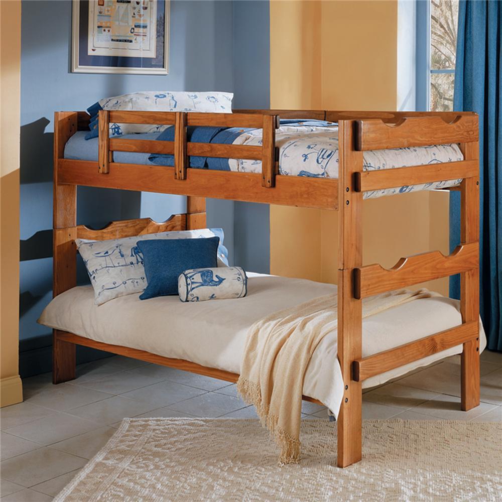 Woodcrest Heartland Br Wooden Bookcase Bunk Bed Bullard Furniture