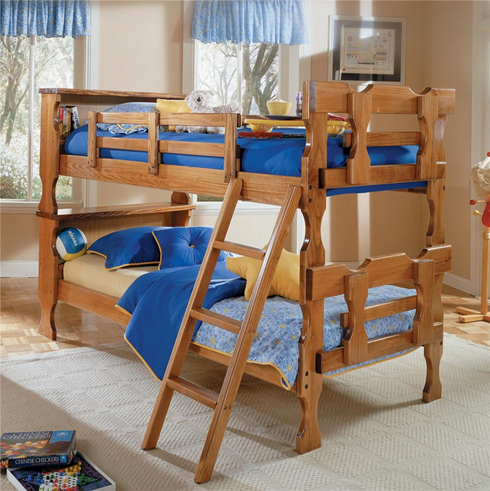 Woodcrest Heartland Br Twin Over Twin Reversible Stair Bunk Bed A1