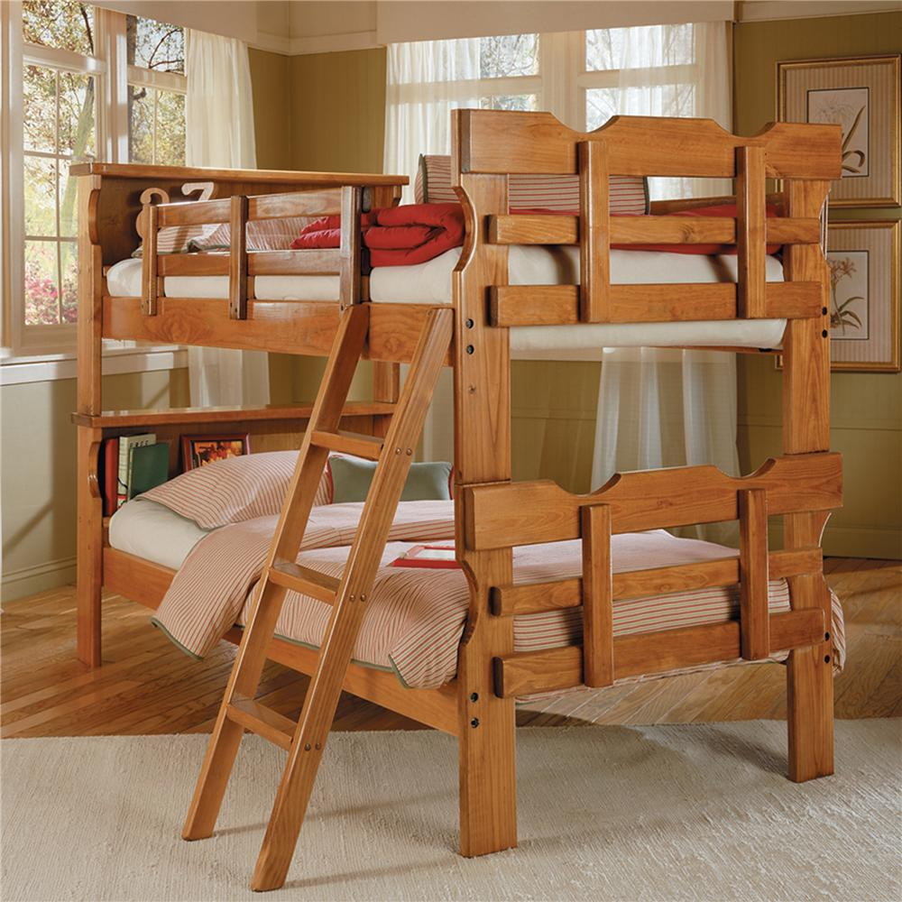 Woodcrest Heartland Br Wooden Bookcase Bunk Bed Bullard Furniture