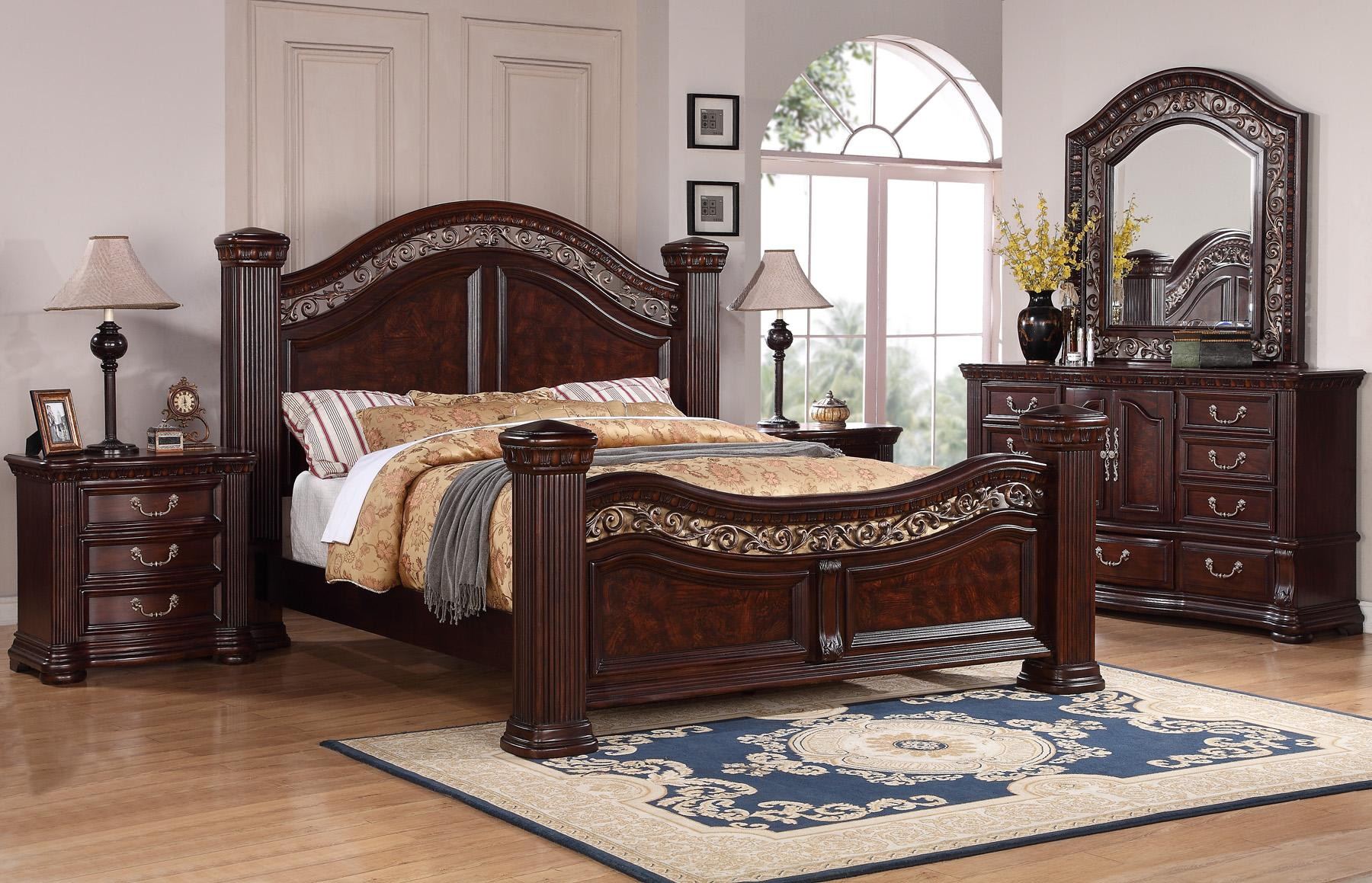 Flexsteel Wynwood Collection Alicante King Mansion Bed With Detailed Carvings Furniturewebsite Headboard Footboard