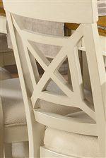 Cross-Back Design on Chair