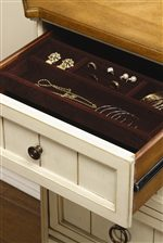 Removable Brown Velvet Jewelry Tray in Top Left Dresser Drawer