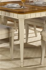 Tapered Legs and Bead-Board Molding on Table