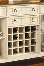 Removable 20-Capacity Wine Rack in Sideboard