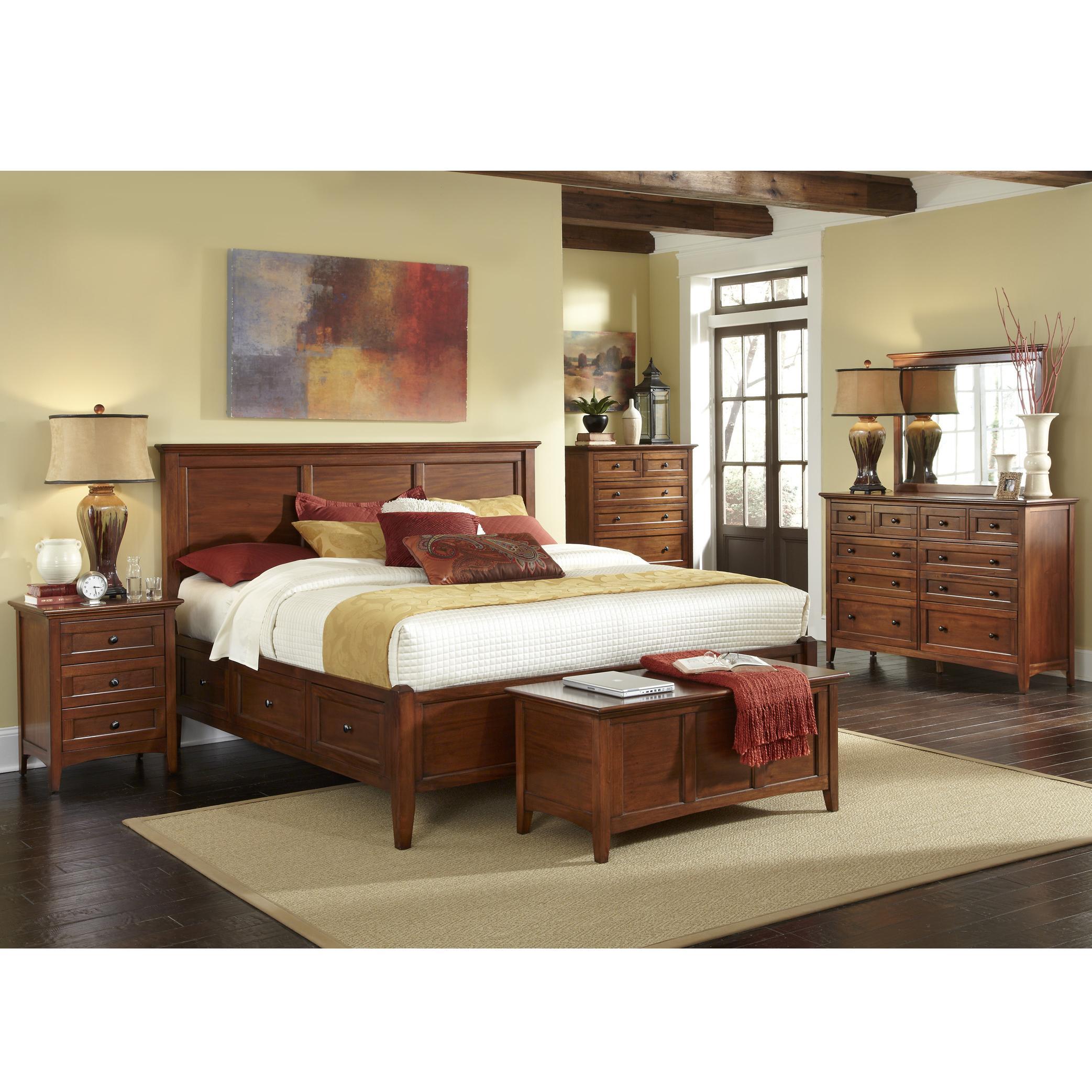 Westlake California King Storage Bedroom Group by AAmerica at Mueller Furniture