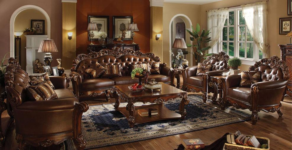 Vendome Stationary Living Room Group by Acme Furniture at Nassau Furniture and Mattress