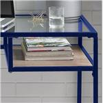 Acme Furniture Yasin Industrial Desk with Clear Glass Top