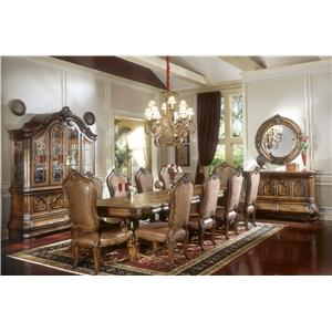 Michael Amini Tuscano Biscotti Formal Dining Room Group