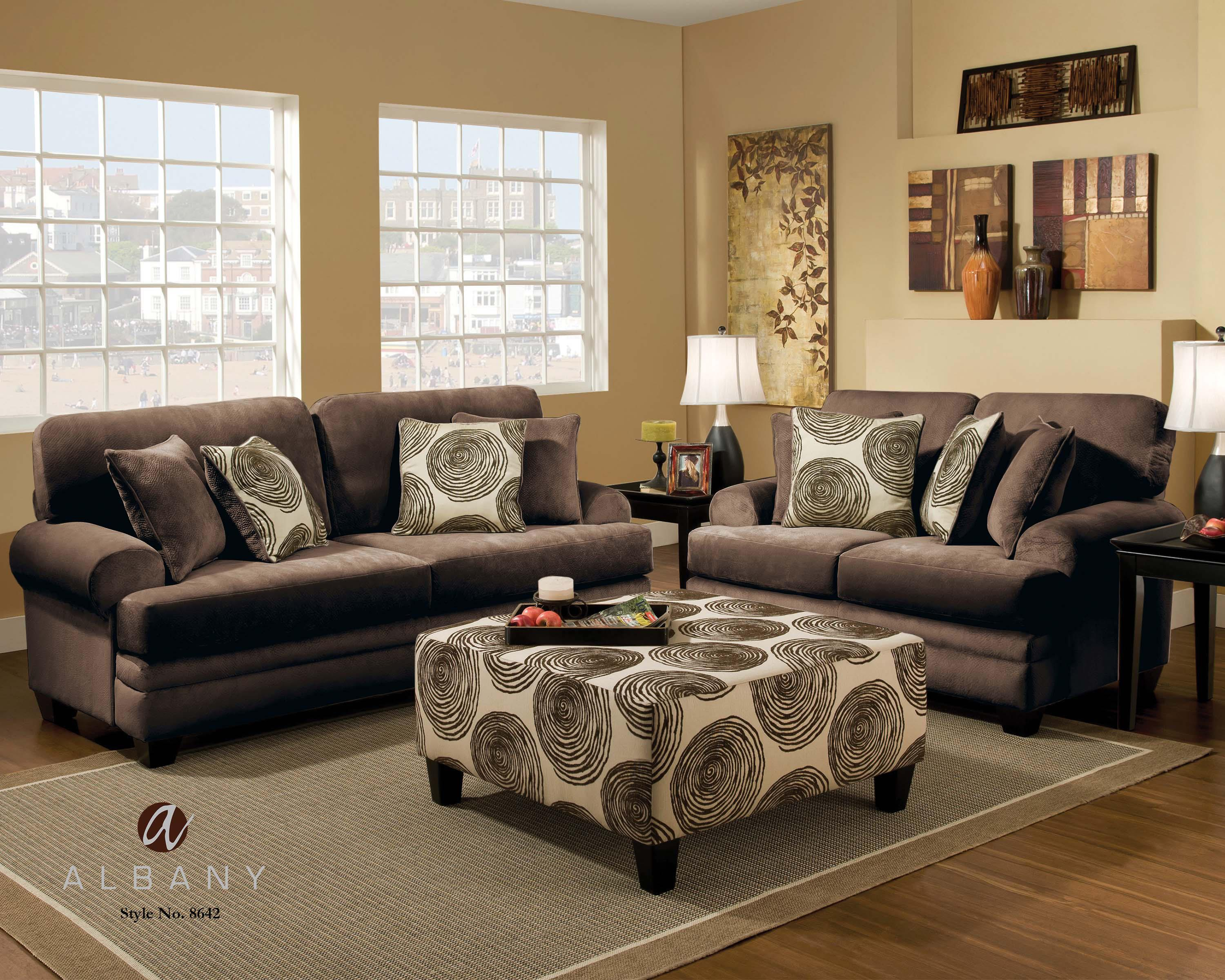 8642 Stationary Living Room Group by Albany at A1 Furniture & Mattress