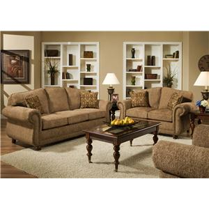 American Furniture 6000  Stationary Living Room Group