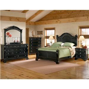 American Woodcrafters Heirloom King Bedroom Group