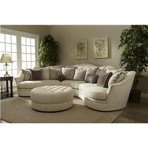 A.R.T. Furniture Inc Amanda - Ivory Stationary Living Room Group