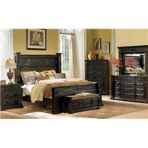 A.R.T. Furniture Inc Marbella Noir California King Bedroom Group