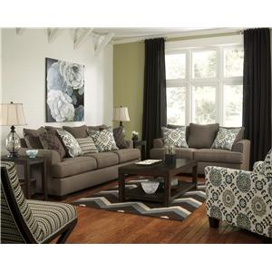 Ashley Furniture Corley - Slate Stationary Living Room Group