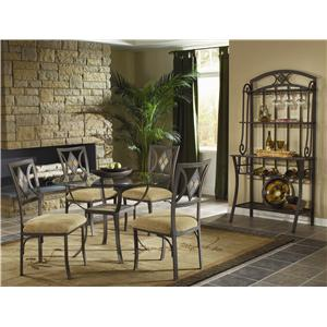 Bernards Diamond Tile Casual Dining Room Group
