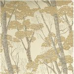 Tan Toned Fabric with a Nature Themed Print gives a Down-to-Earth Element to Contemporary Furniture Styles