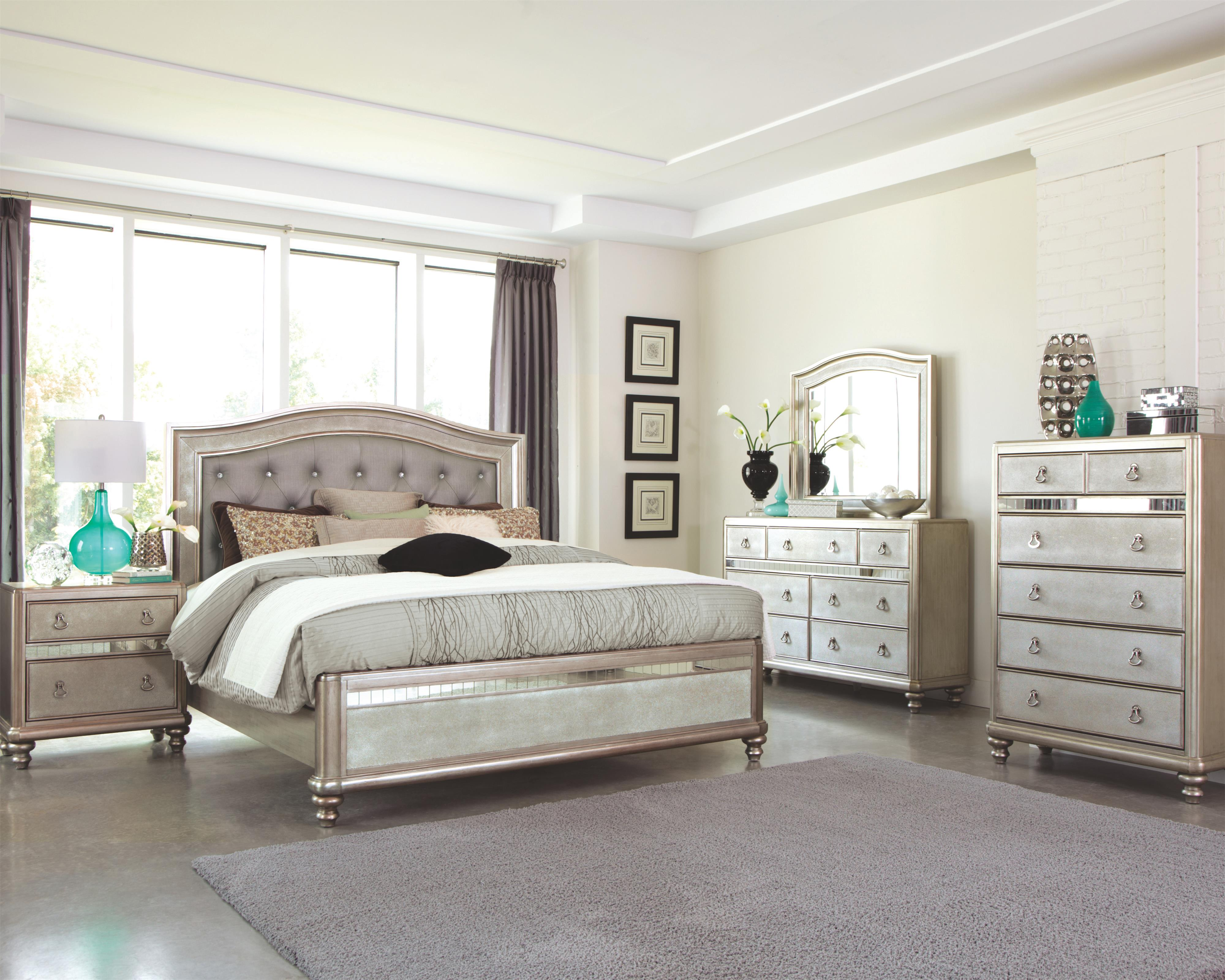 Bling Game Queen Bedroom Group by Coaster at Standard Furniture