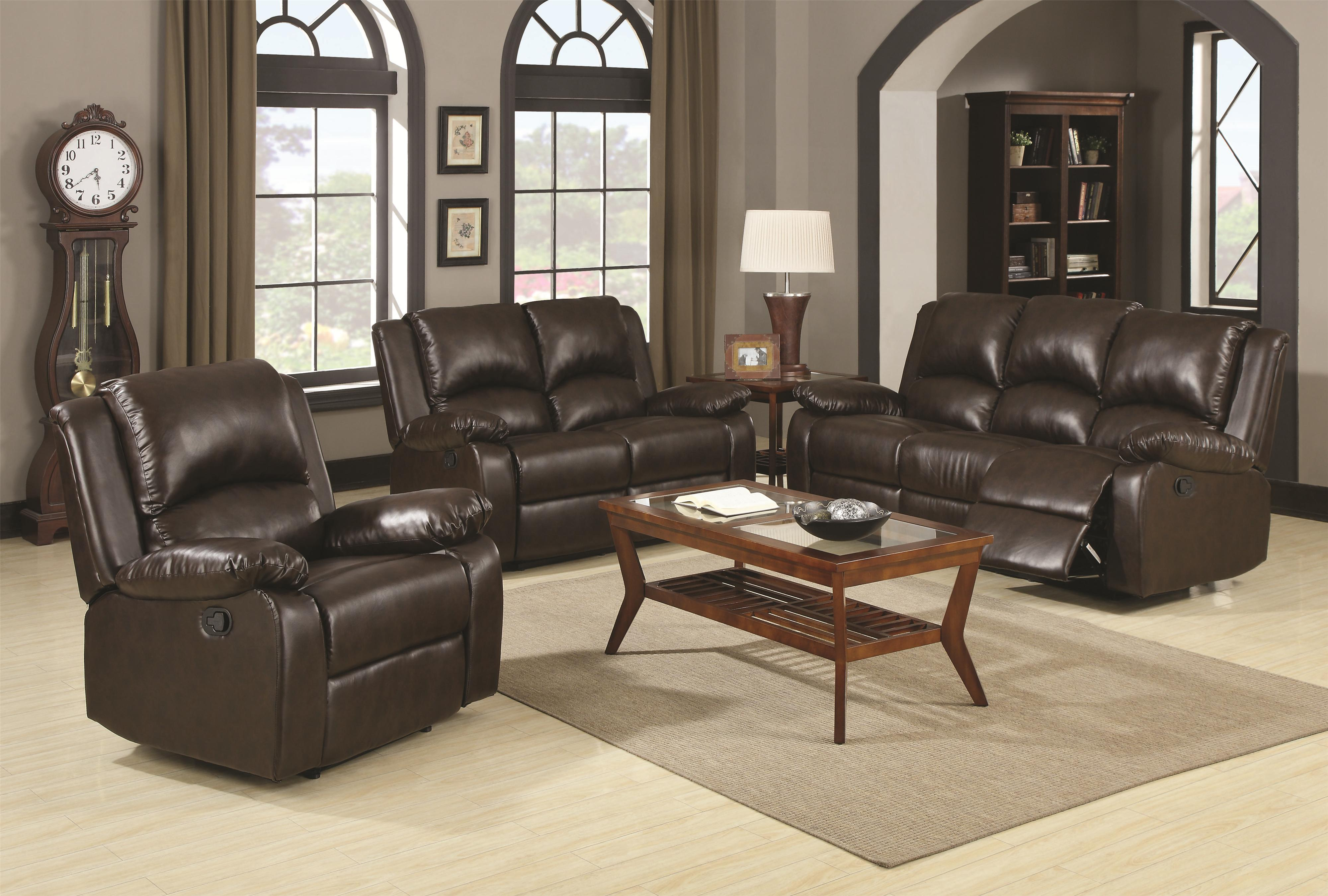Boston Reclining Living Room Group by Coaster at Northeast Factory Direct