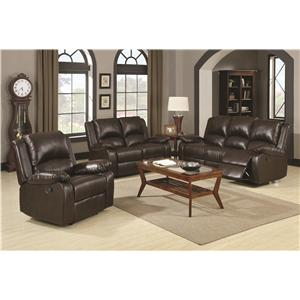 Coaster Boston Reclining Living Room Group