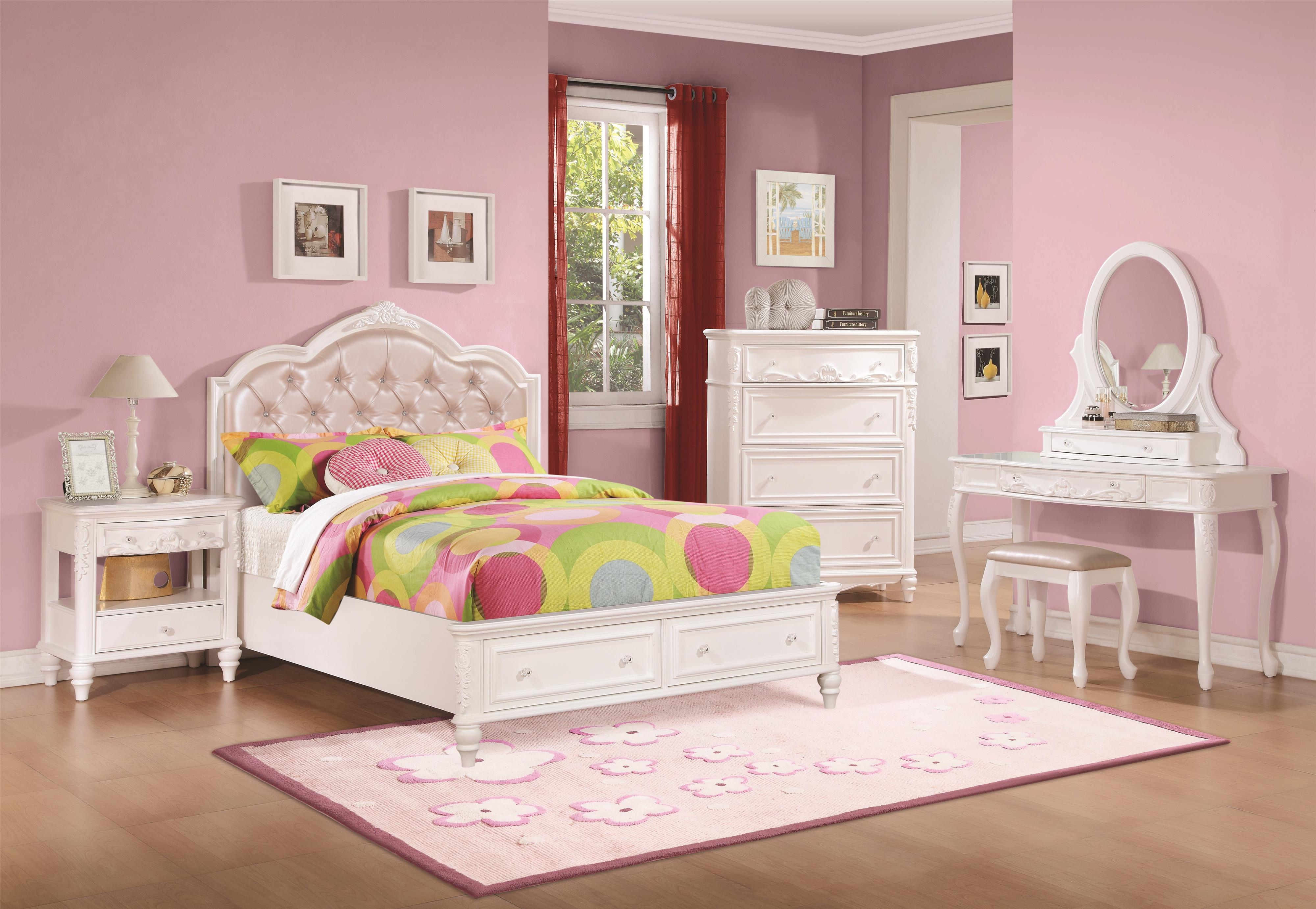 Caroline Full Storage Bedroom Group by Coaster at Northeast Factory Direct