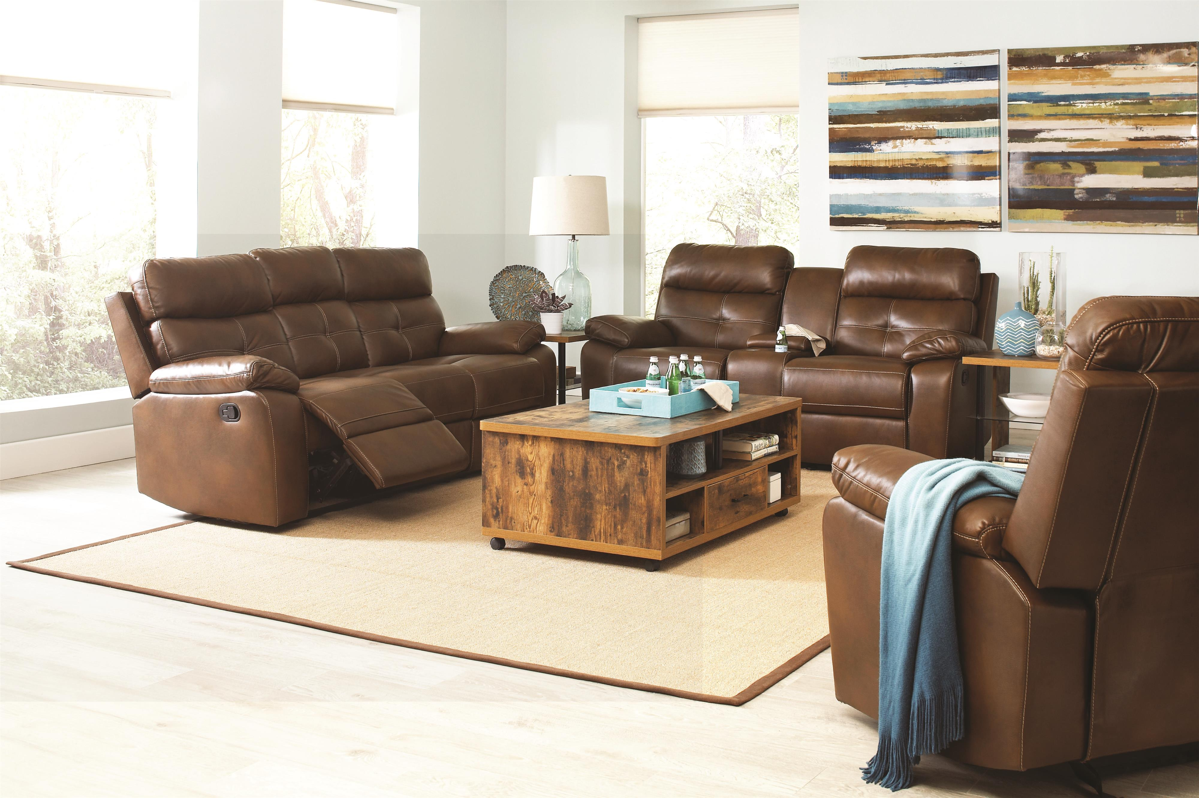 Damiano Reclining Living Room Group by Coaster at Beds N Stuff