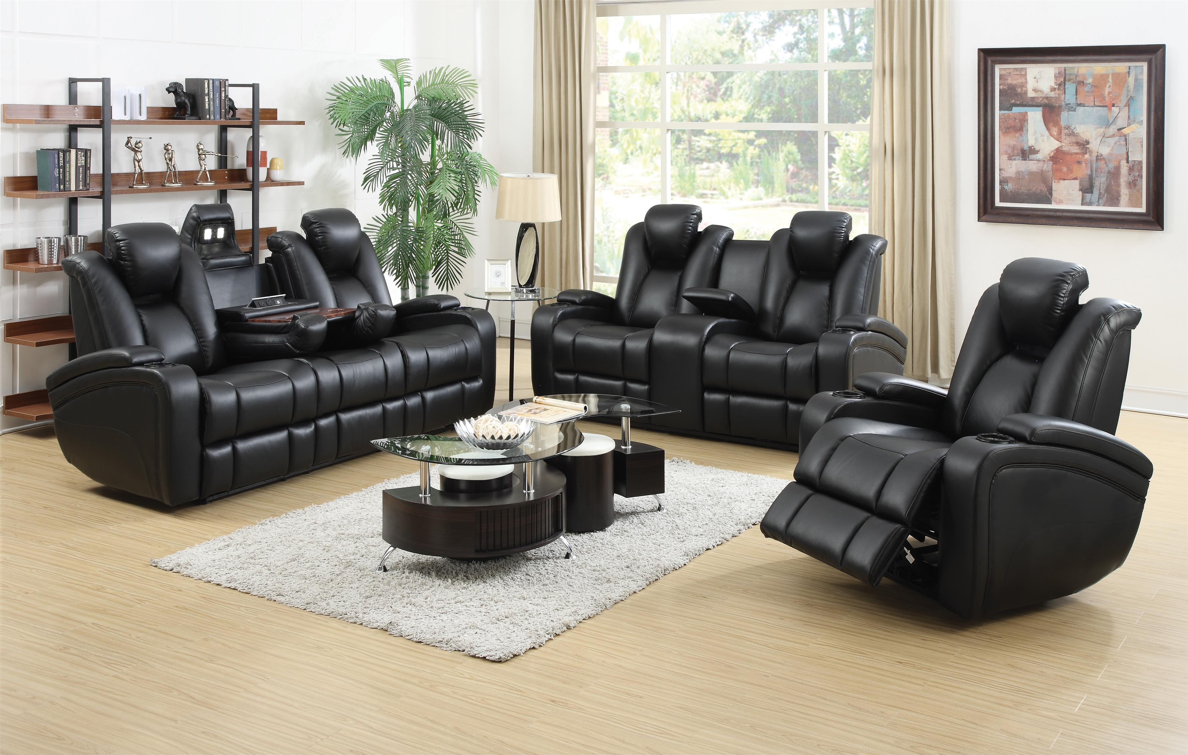 Delange Reclining Living Room Group by Coaster at Northeast Factory Direct